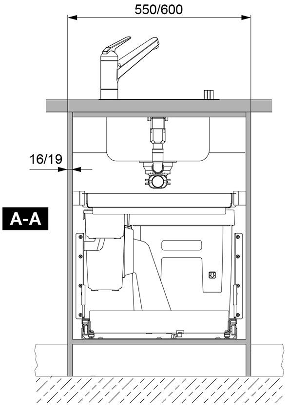 Poubelles système coulissant PEKA Oeko Complet 40+6+1.2 l