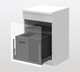 Kehrichtsystem PEKA Oeko FreezyBoy Complet 33 Liter