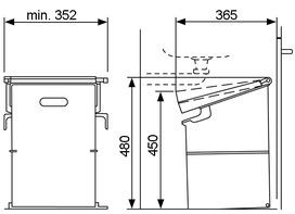 Kehricht-Kippsystem MÜLLEX SINGLE 35