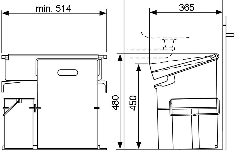 Kehricht-Kippsystem MÜLLEX COMPO 35/5