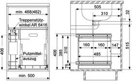 Poubelles système coulissant MÜLLEX ÖKONOM-Set 35/2/2