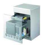 Secchio per rifiuti sistema estraibile MÜLLEX BOXX55/60-R Bio