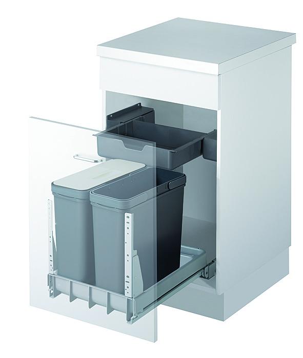 Secchio per rifiuti sistema estraibile MÜLLEX TRIOXX 2 x 16 / 3 x 16