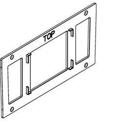BOXX rail pour adapteur de réceptacle