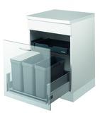 Sistema rifiuti MÜLLEX ZK-TRIOXX 3 x 16 per BLUM Tandembox