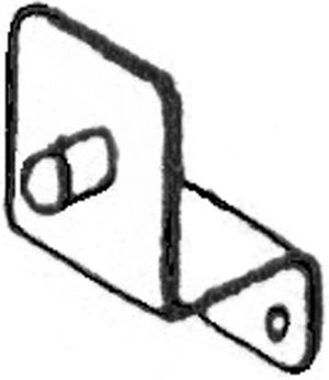 Equerre pour tringle du couvercle