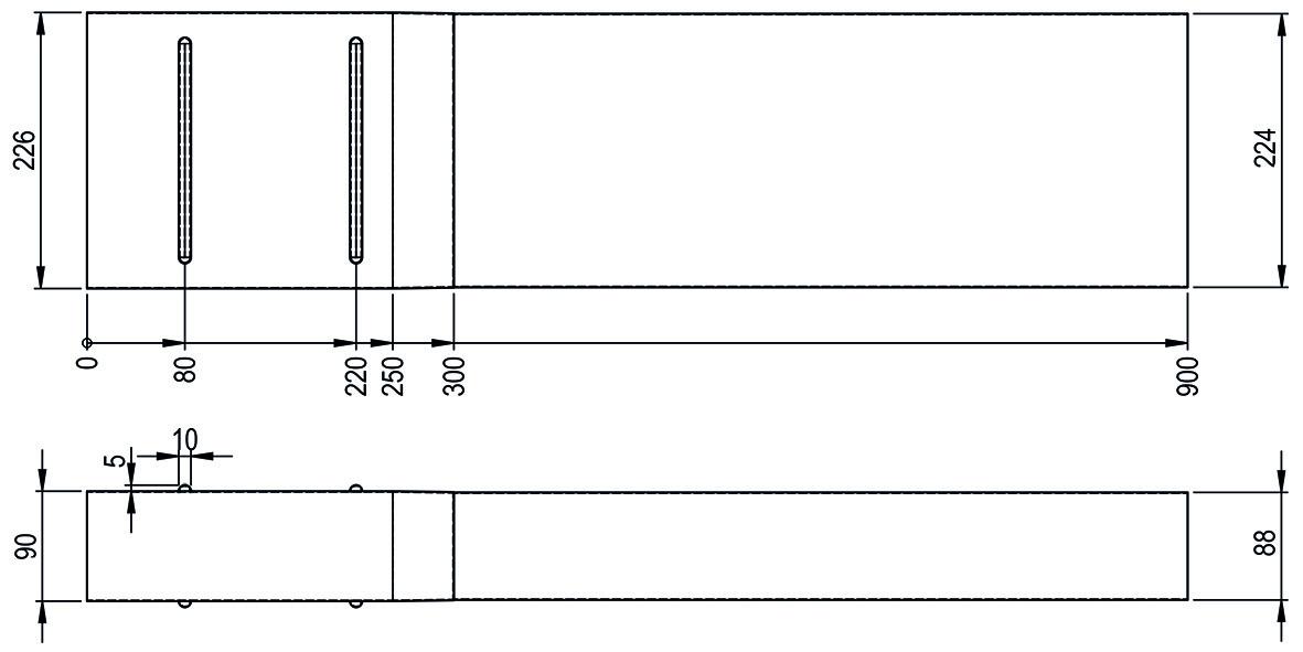 Teleskopschiebeteil HASTRAG zu Flachkanal