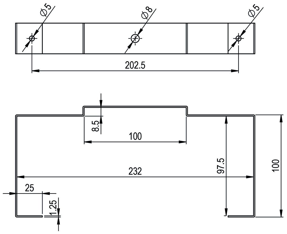 Montagebügel HASTRAG für Flachkanal