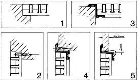 Feder-Elemente zu Z-Rahmenprofile