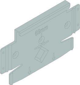 Montageplatte BLUM für Geschirrspüler