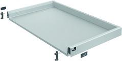 Tiroir complet pour tiroir sous cuisinière HETTICH ArciTech, argent