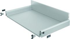 Komplett-Frontschubkasten / Frontinnenschubkasten HETTICH ArciTech, silber, Zargenhöhe 94 / Systemhöhe 186 mm