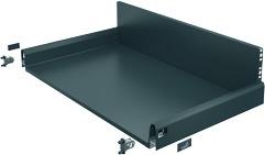 Komplett-Frontschubkasten / Frontinnenschubkasten HETTICH ArciTech anthrazit, Zargenhöhe 94 mm / Systemhöhe 186 mm
