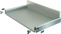 Komplett-Frontschubkasten / Frontinnenschubkasten HETTICH ArciTech edelstahlfinish, Zargenhöhe 94 mm / Systemhöhe 186 mm