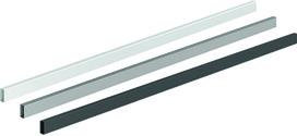 Reling transversal / tringle pour façade aluminium HETTICH ArciTech / OrgaStore 400