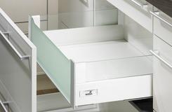 Cassetto interno 200 DesignSide sistema di spondine HETTICH InnoTech, bianco, altezza spondine 144 mm