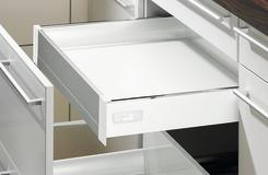 Tiroir intérne 100 système de châssis HETTICH InnoTech, blanc, hauteur châssis 70 mm