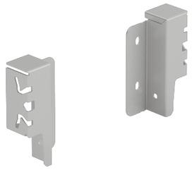 Giunzione per pannello posteriore HETTICH ArciTech, argento, altezza del sistema 94 mm