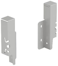 Giunzione per pannello posteriore HETTICH ArciTech, argento, altezza del sistema 126 mm