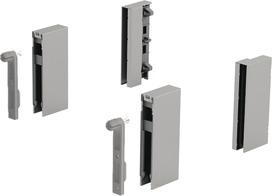 Adapteur DesignSide HETTICH ArciTech, argent, hauteur du système 186 / 218 mm