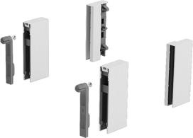 Adapteur DesignSide HETTICH ArciTech, blanc, hauteur du système 186 / 218 mm