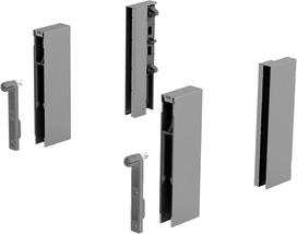 DesignSide Adapter HETTICH ArciTech, silber, Systemhöhe 218 / 250 mm