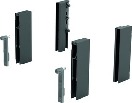 Adapteur DesignSide HETTICH ArciTech, anthracite, hauteur du système 218 / 250 mm