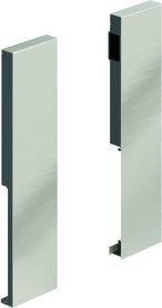 Giunzione per frontale HETTICH ArciTech, champagner / effetto inox, altezza del sistema 218 mm