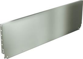 Pannello posteriore in acciaio HETTICH ArciTech, champagner / effetto inox, altezza del sistema 250 mm