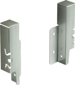 Rückwandverbinder HETTICH ArciTech, champagner / edelstahlfinish, Systemhöhe 126 mm