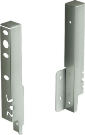 Giunzione per pannello posteriore HETTICH ArciTech, champagner / effetto inox, altezza del sistema 186 mm