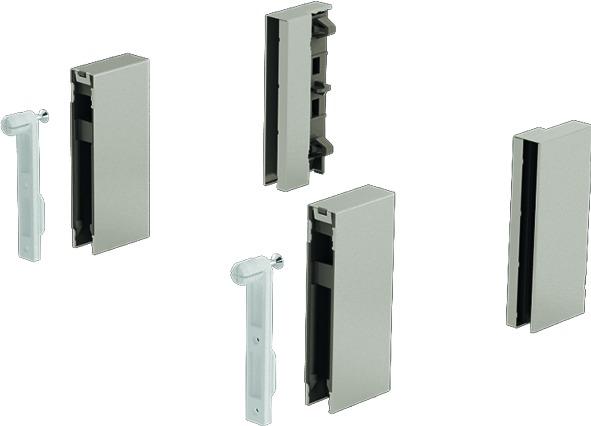 DesignSide Adapter HETTICH ArciTech, champagner, Systemhöhe 186 / 218 mm