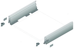 Kit da cassetto flessibili HETTICH ArciTech, bianco