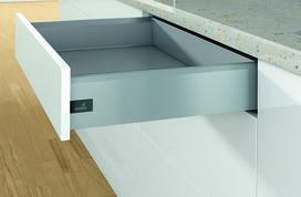 Sistema di spondine HETTICH ArciTech, argento, altezza delle spondine 126 mm