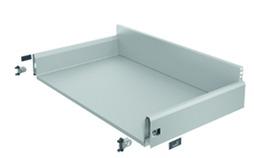 Komplett-Frontschubkasten / Frontinnenschubkasten HETTICH ArciTech, silber, Zargenhöhe 126 / Systemhöhe 186 mm
