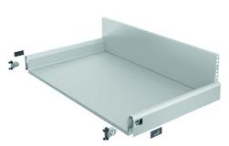 Komplett-Frontschubkasten / Frontinnenschubkasten HETTICH ArciTech silber, Zargenhöhe 94 mm / Systemhöhe 218 mm