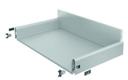 Komplett-Frontschubkasten / Frontinnenschubkasten HETTICH ArciTech silber, Zargenhöhe 126 mm / Systemhöhe 218 mm