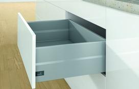 Kits complets tiroir à casseroles / tiroir intérieur à casseroles HETTICH ArciTech avec TopSide, argent