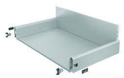 Komplett-Frontschubkasten HETTICH ArciTech silber, Zargenhöhe 126 mm / Systemhöhe 250 mm
