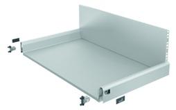 Komplett-Frontschubkasten HETTICH ArciTech silber, Zargenhöhe 94 mm / Systemhöhe 282 mm