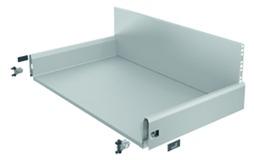 Komplett-Frontschubkasten HETTICH ArciTech silber, Zargenhöhe 126 mm / Systemhöhe 282 mm