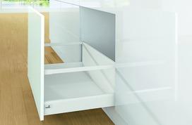 Kits complets tiroir à casseroles HETTICH ArciTech avec reling, blanc, hauteur châssis 94 mm, hauteur du système 282 mm