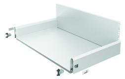 Cassetto con ringhierina preassemblato / cassetto con ringhierina interno HETTICH ArciTech, bianco, 126 / 282 mm