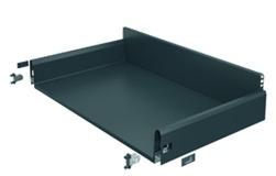 Komplett-Frontschubkasten / Frontinnenschubkasten HETTICH ArciTech anthrazit, Zargenhöhe 126 mm / Systemhöhe 186 mm