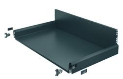 Komplett-Frontschubkasten / Frontinnenschubkasten HETTICH ArciTech anthrazit, Zargenhöhe 94 mm / Systemhöhe 218 mm