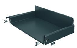 Komplett-Frontschubkasten / Frontinnenschubkasten HETTICH ArciTech anthrazit, Zargenhöhe 126 mm / Systemhöhe 218 mm