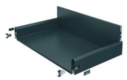 Komplett-Frontschubkasten HETTICH ArciTech anthrazit, Zargenhöhe 126 mm / Systemhöhe 250 mm