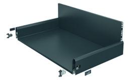 Komplett-Frontschubkasten HETTICH ArciTech anthrazit, Zargenhöhe 126 mm / Systemhöhe 282 mm