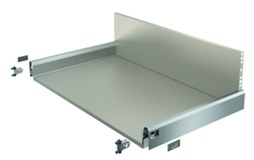 Komplett-Frontschubkasten HETTICH ArciTech edelstahlfinish, Zargenhöhe 94 mm / Systemhöhe 250 mm