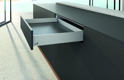 Kit de tiroir flexibles HETTICH AvanTech, argent éloxé